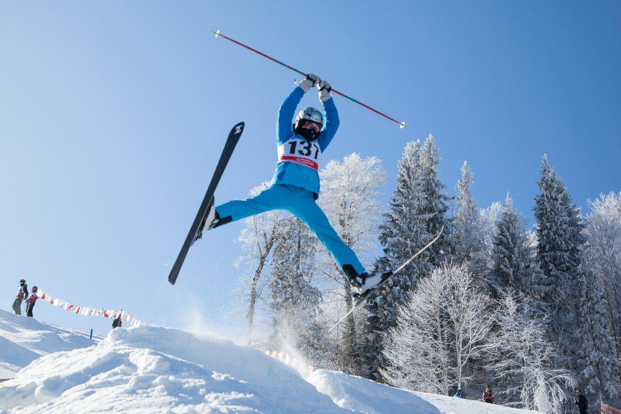 Красивые лыжники фото