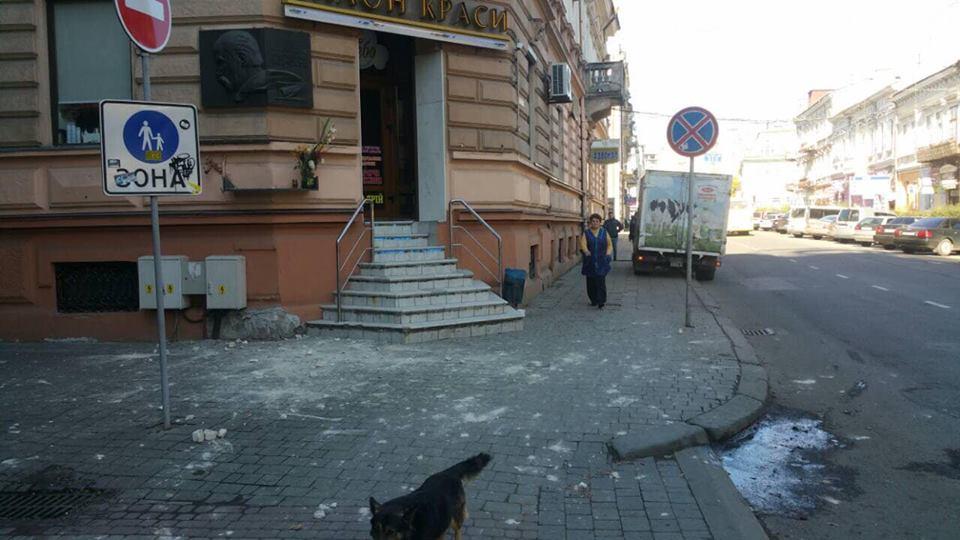 """Результат пошуку зображень за запитом """"У центрі Франківська людям на голови знову обвалюються фасади будинків"""""""