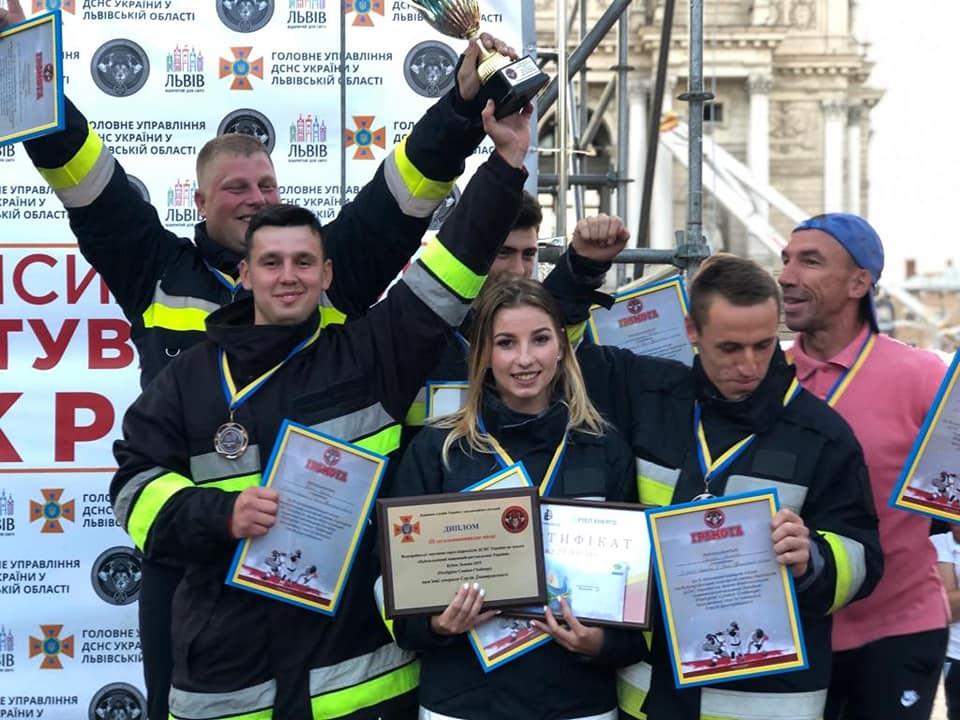 Рятувальники з Прикарпаття вибороли третє місце на всеукраїнських змаганнях (відеосюжет)