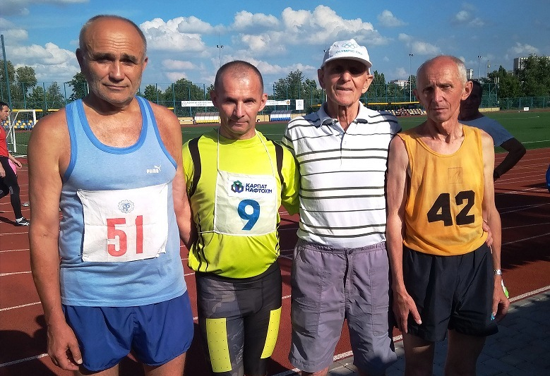 Прикарпатці виступили на Всеукраїнських іграх з легкої атлетики серед ветеранів