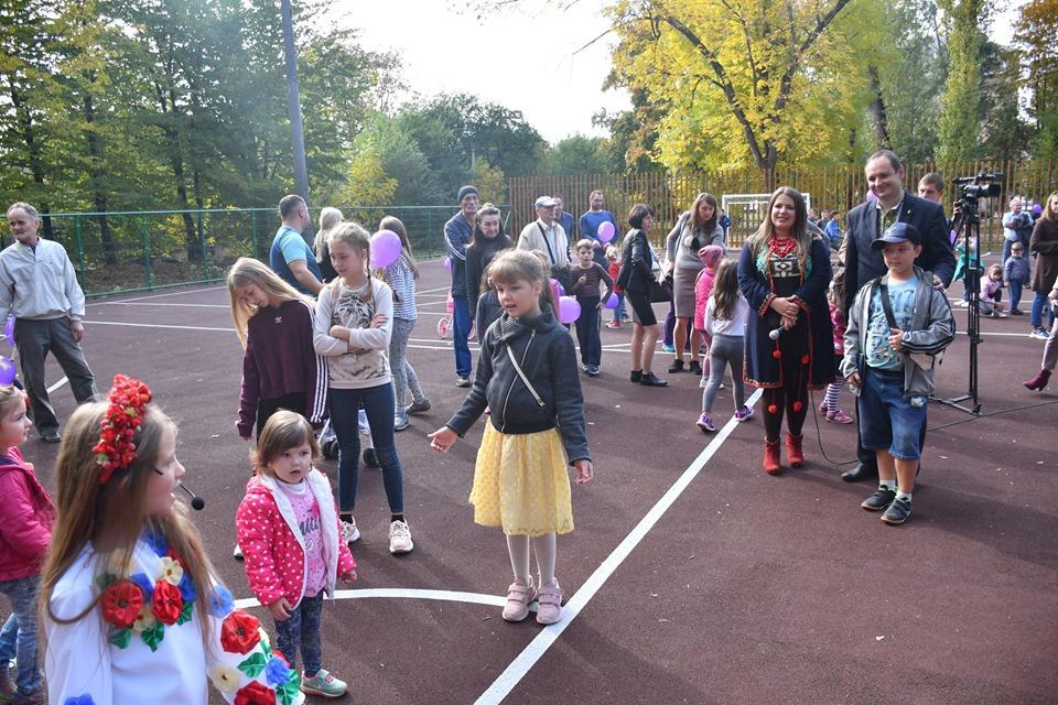 В парку на Молодіжній відкрили оновлений футбольний майданчик (фотофакт)
